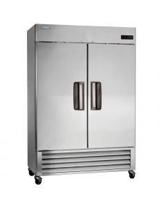 """Commercial Solid 2 Door Reach-In Freezer 55"""", 49 Cu.Ft. - Volition"""