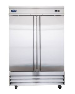 Entree CR2-SI Two Solid Door Two Section Reach-In Upright Refrigerator