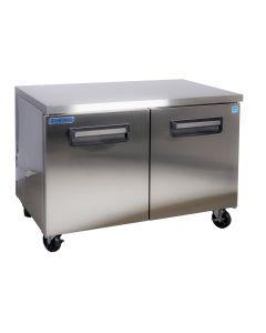 Solid Two Door Undercounter Refrigerator 48 Inch 13 Cu.Ft. - VUR48