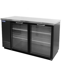 "Special Offer | 59"" Swing Glass Door Back Bar Cooler - Heavy Duty Volition VBB59G"