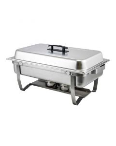 Winco Full Size Stainless Steel Chafer w/Folding Stand