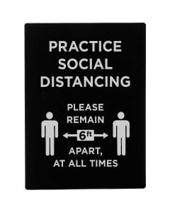 "Stanchion Frame Sign | ""Practice Social Distancing"""