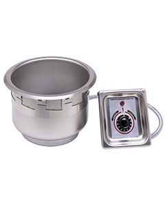11 quart APW/Wyott round hot food well/warmer with UL electrical kit and no drain