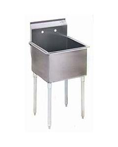 "Eagle 1 Bowl Stainless Utility Sink (24"" x 24"" Tub)"
