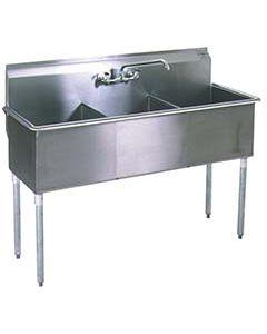 Eagle 3 Bowl Utility Sink, 24x24