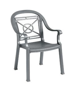 Victoria Armchair, Charcoal