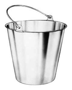 16 Qt Stainless Steel Bucket Pail for Milk, Ice or Food