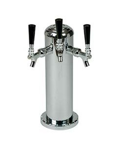 """American Beverage 3 Faucet Chrome Draft Tower w/4"""" Column"""