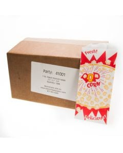 1 oz popcorn bags holds 2-1/2 cups popcorn 1000/case