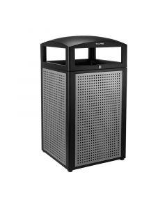 Alpine 40-Gallon All-Weather Trash Container | Silver Exterior