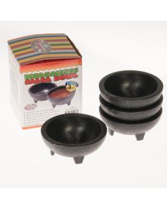 4 oz Molcajete Salsa Bowl for Mexican Restaurant, Charcoal