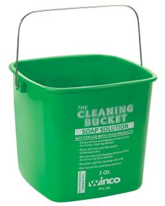 Winco PPL-3G Janitorial Soap Bucket for Cleaning, 3 Qt Green