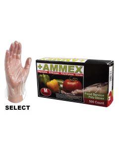 Disposable Textured Poly Gloves, Medium