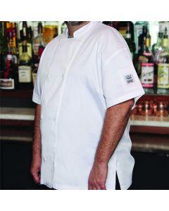 Chef Revival Chef Jacket, Short Sleeve, Large, Black