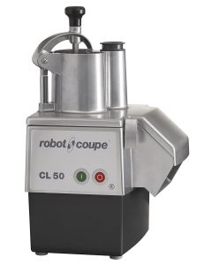 Robot Coupe CL 50 E Continuous Feed Food Processor for slicing, grating, dicing. Includes 1 slicing and 1 grating discs. Other discs can be purchased.