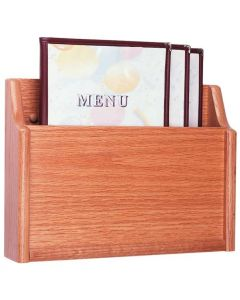 1 Pocket Wall Mount Wooden Menu Holder