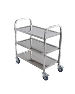 """33""""H Stainless Steel Heavy Duty Bus Cart for Commercial Kitchens 