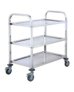 """37""""H Stainless Steel Heavy Duty Bus Cart for Commercial Kitchens 