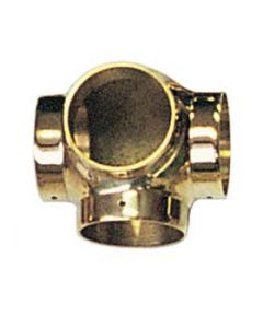 "Brass Ball Side Outlet Tee Fitting for 2"" Railing"