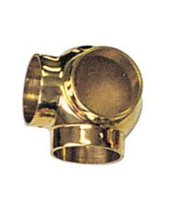 Ball Side Outlet Elbow Fitting for Brass Bar Railing