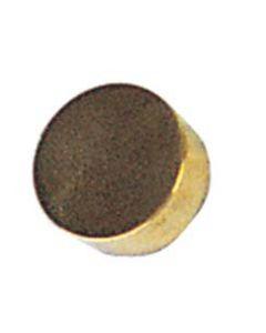 "2"" Brass Bar Rail Flat End Cap"