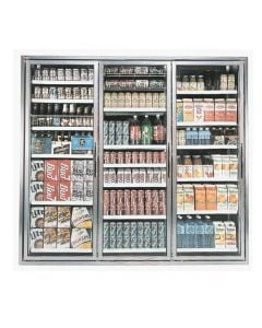 "Walk-in Cooler 3 Glass Door Set | (3) 23-1/4"" x 72"""