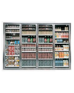 "4-Door Walk-in Cooler Display Glass Door Set | (4) 23-1/4"" x 72"""
