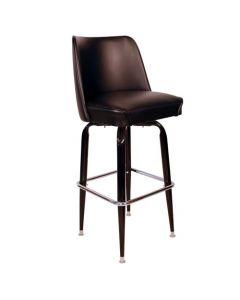 Black Bucket Seat Bar Stool