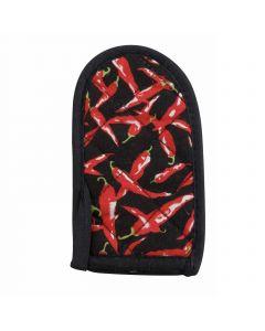 "Pot Handle Holder, Chili Pepper Design | 6-1/2"""