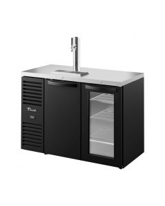 "True TDR48-RISZ1-L-B-SG-1 Single Tap Kegerator | 48"" Beer Dispenser 