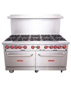 """Special Offer   Volition R10-N 60"""" 10-Burner Range with 2 Ovens   Natural Gas"""