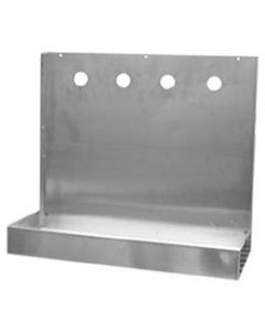 "4 Faucet Wall Mount Stainless Beer Tap Drip Tray (16"" Length)"