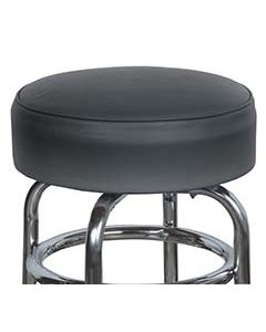"""15"""" Black Replacement Cover for Retro Style Barstool- 6"""" skirt with foam cushion insert"""