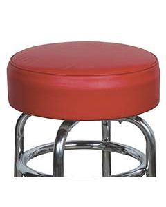 """14"""" Red Replacement Cover for Retro Style Barstool- 6"""" skirt with foam insert"""
