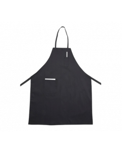 "Black Bib Apron with Pocket for Chefs, 31"" x 26"""
