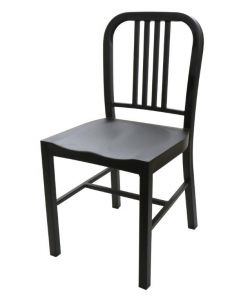 Flat Black Welded Steel Dining Chair