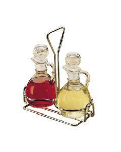 Libbey 80371 3-piece Cruet Caddy Set for Oil & Vinegar