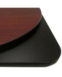 "36"" Dia. Round Reversible Table Top | Mahogany/Black"