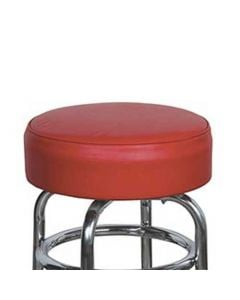 """15"""" Red Replacement Cover for Retro Style Barstool- 6"""" skirt with foam cushion insert"""
