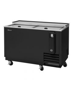 "50"" Horizontal Deep Well Bottle Cooler, Black Vinyl 