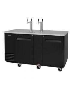 """69"""" Black 3 Keg Beer Dispenser 2 Dual Faucet Tap Kegerator Turbo Air TBD-3SB-N"""