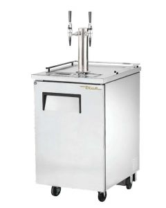 Nitro Tower Infusion Two Faucet Empowered Stainless Steel TRUE Kegerator | Two Infused Taps | Cold Brew Coffee & Nitro Drinks
