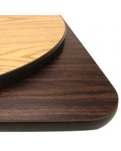 "36"" x 36"" Square Reversible Table Top | Oak/Walnut"